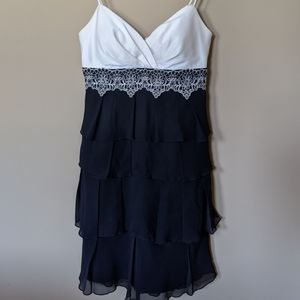Max and Cleo size 4 Black Ruffle and Lace Dress